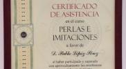 Tasación Joyas Madrid TJM certificado perlas e imitaciones IGE