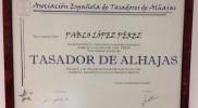 Tasación Joyas Madrid TJM Diploma tasador-alhajas-AETA