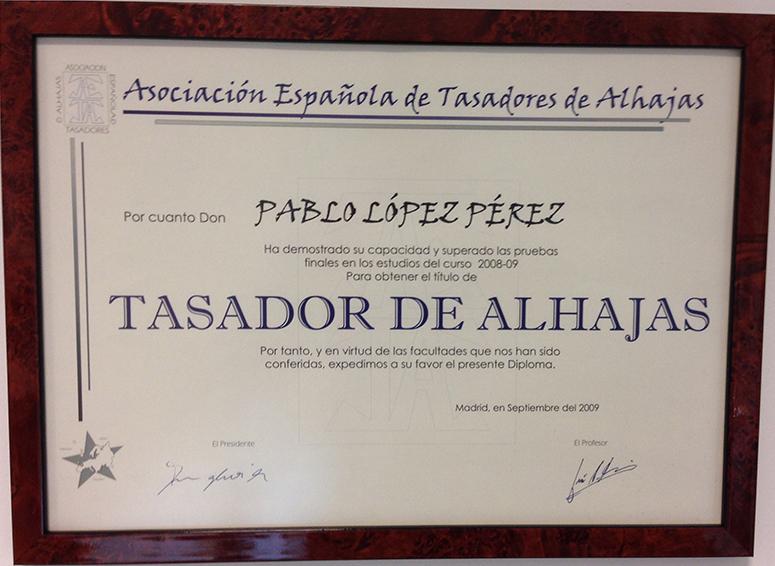 Diploma Tasador de Joyas (AETA)